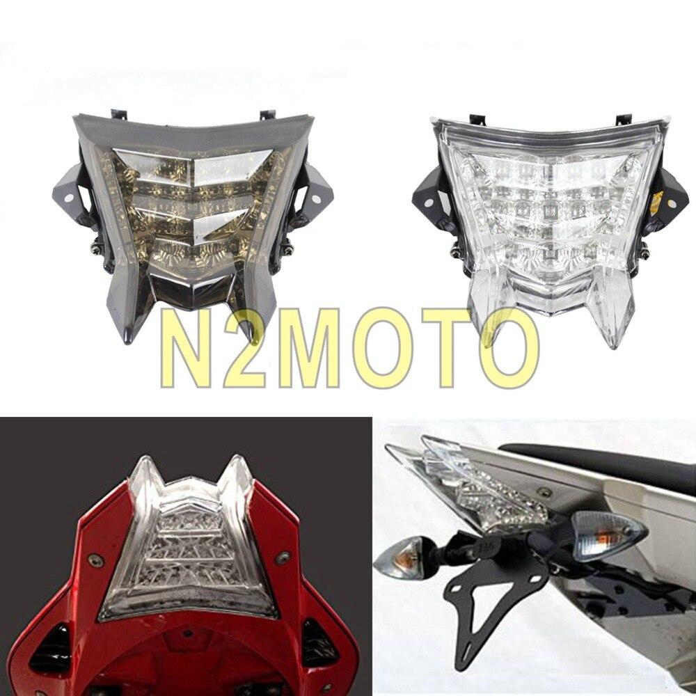 Pour BMW S1000RR S1000R HP4 2010-2014 LED feu arrière Transparent feu arrière feu stop ambre clignotants