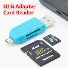 3 in 1 Multi-function SD TF Card Reader Micro USB OTG cable Adapter for Samsung Xiaomi Huawei Android Mobile Phones Computer