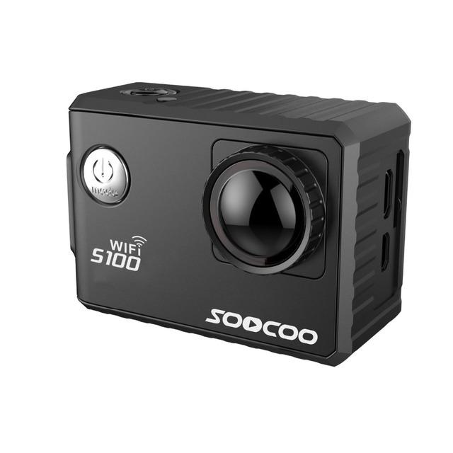 Soocoo s100 câmera ação 4 k wi-fi embutido giroscópio com extensão gps (gps modelo para não incluir)