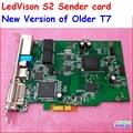 Full color display led cartão remetente suporte max 2048*1365 pixels, syc ledvison remetente cartão s2, substituir os mais velhos t7 colorlight it7