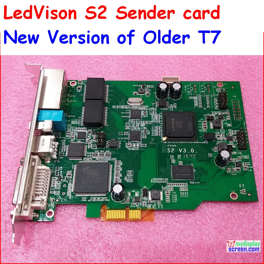 Full Color Led Display Sender Card Max Support  2048*1365 Pixel, Ledvison Syc Sender Card S2, Replace Older T7 Colorlight It7