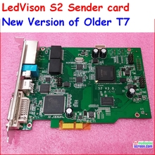 full color led display sender card max support  2048*1365 pixel, ledvison syc sender card T7, colorlight it7
