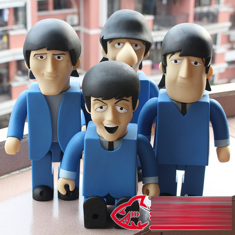 4pcs/Set The Beatles Vinyl Doll Bearbrick Be@rbrick 400% CAN'T BUY ME LOVE DIY Dolls With Box Toys NEW 28cm