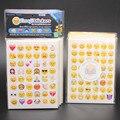 20 peças/lote Cortado Emoji Sorriso Adesivo para para notebook, mensagem StickersHigh Qualidade Vinil * engraçado * criativo