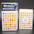 20 unids/lote Troquelado Emoji Sonrisa Pegatina para notebook, mensaje StickersHigh Calidad Vinilo * divertido * creativa
