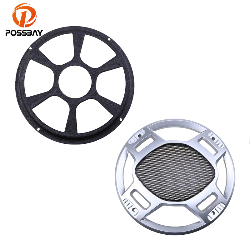 POSSBAY Car-Styling 10''/12'' Inch Car Speaker Audio Ring Speaker Grille Cover Mesh Sub Woofer Black Subwoofer Grill Cover