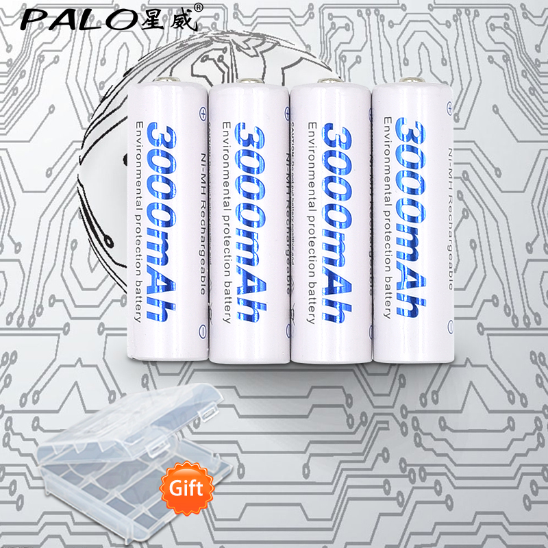 4pcs 2a AA Battery Batteries 1.2V AA 3000mAh Ni-MH Pre-charged Rechargeable Battery 2A Baterias for Camera,clock and Razor