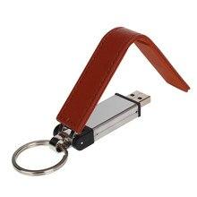 metal leather key chain usb flash drive 4GB 8GB 16GB pen 32GB 64GB mobile disk 128gb Pendrive 2.0 memory stick