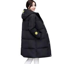 Winter Long Jacket Women Hooded Print Parka Warm Cotton Wadded Coat Winter Jacket Padded Lady women winter long coat 5L09
