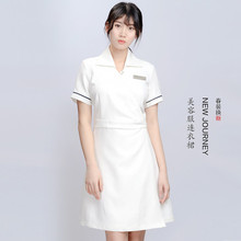 Nurses short sleeve dress Korean version of dentist oral medicine clinic beauty salon work clothes