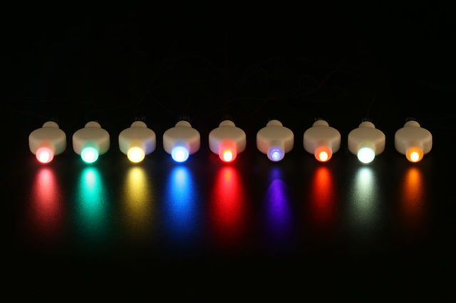 10pcs Lot Original Battery Operated Hanging Wire Single Mini Led Paper Lantern Light Waterproof Decorative Glow
