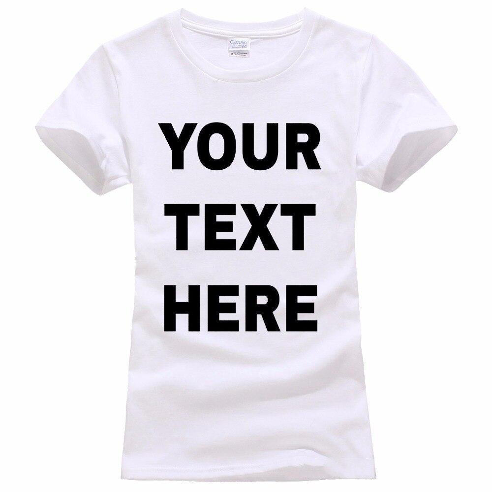 737aa503cec49 Gildan 2017 Fashion Design Free Shipping Your Text Here Custom Women s Crew  Neck Short-Sleeve Printing Machine T Shirts