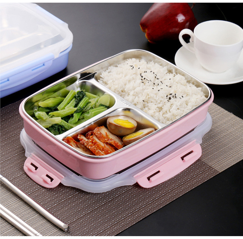 cheap bento boxes TUUTH Stainless Steel Lunch Box Large-capacity Microwave Heating Portable Dinne Food Containers For Picnic Office School B4