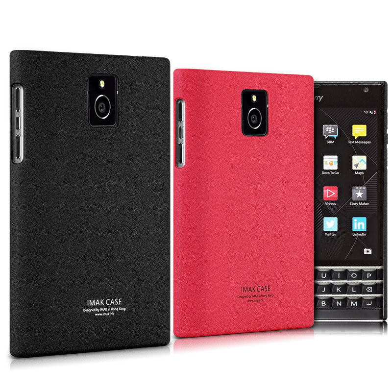 US $5 99 |Matte Case for Blackberry Passport Q30 Back Cover Frosted Housing  Plastic Protector Original IMAK Cowboy Shell Skin Black Rose-in