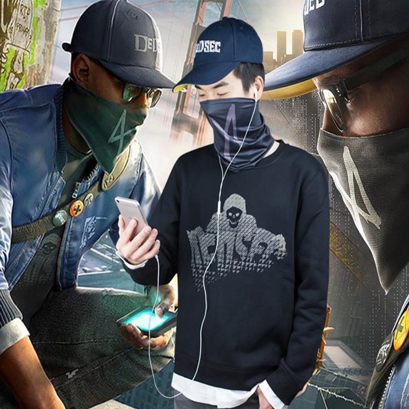 Watch Dogs 2 Costume Watch Dogs Watch Dog Clothes 2 Marcus Harlovy Leave Two Sweatshirts Free shipping game full set Cosplay