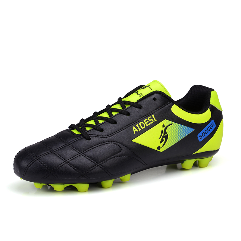 sneakers for cheap 0da8c 1e6b8 US $39.65 |PINSV Botas Futbol Tacos Sneaker Men Kids Soccer Football Futsal  Boots Soccer Cleats Superfly Fg Spike Footwear Men Sport Gras-in Soccer ...