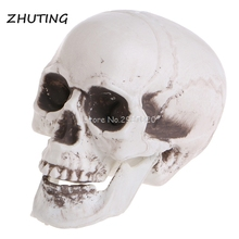 Mini Decor Prop Skeleton Head Plastic Halloween Coffee Bars Ornament