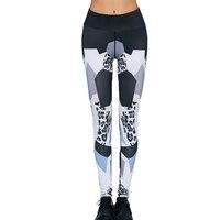 מכנסיים גבוה מותן Leopard הדפסת אופנה נשים סקסי Slim Fit חותלות אלסטיות סקיני Bottoms כושר אימון לאישה
