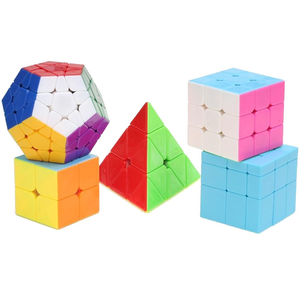 5PCS/Set ZCUBE Magic Cubes Toy for Children 2*2*2 3*3*3 Triangular Megaminx Mirror Cube 3x3 on 2x2 Professional Cubos Megico 8pcs set shengshou s magic cubes 3 3 2 2 2x2 3x3 skew sq1 megaminx mastermorphix triangle pyraminx mirror rubix rubic cube