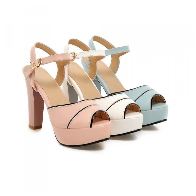 Mode gladiateur sandales femmes grande taille dames chaussures femmes à talons hauts pompes Sapato Feminino été Style Chaussure Femme M2