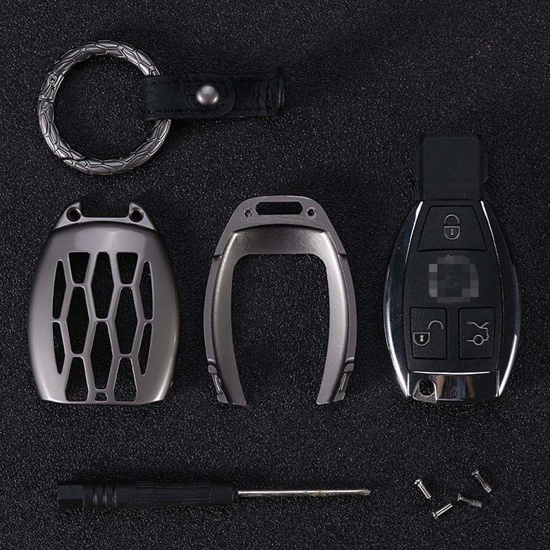 Porte-clés en alliage de Zinc Housse pour Mercedes Benz B200 C180 E260L S320 GLK300 CLA CLS S400 fob porte-clés Voiture style