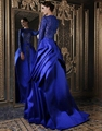 Royal Blue 2015 Lace Evening Dresses A Line Long Sleeves Formal Evening Gowns Dresses China robe de soiree
