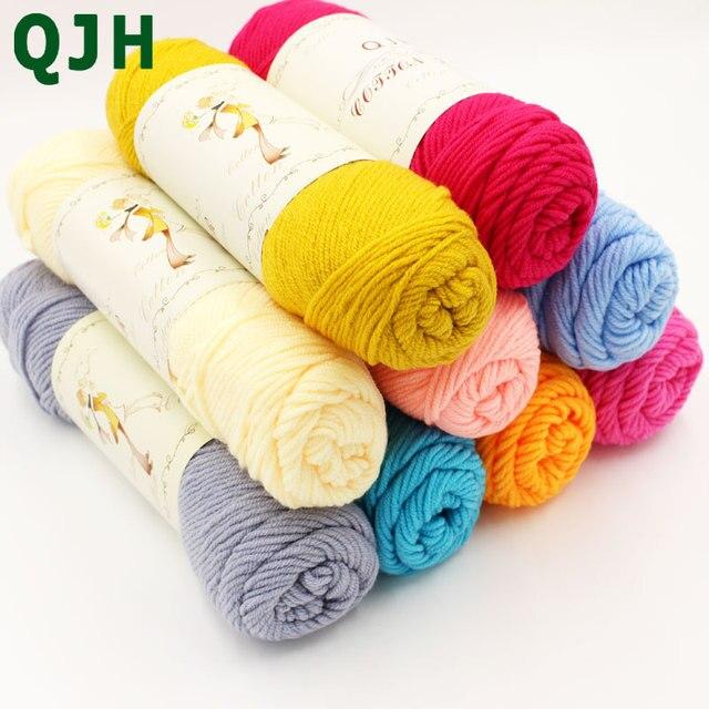 e536fc48f 250g lot Wholesale Soft Silk Fiber Bamboo Crochet Cotton Baby ...