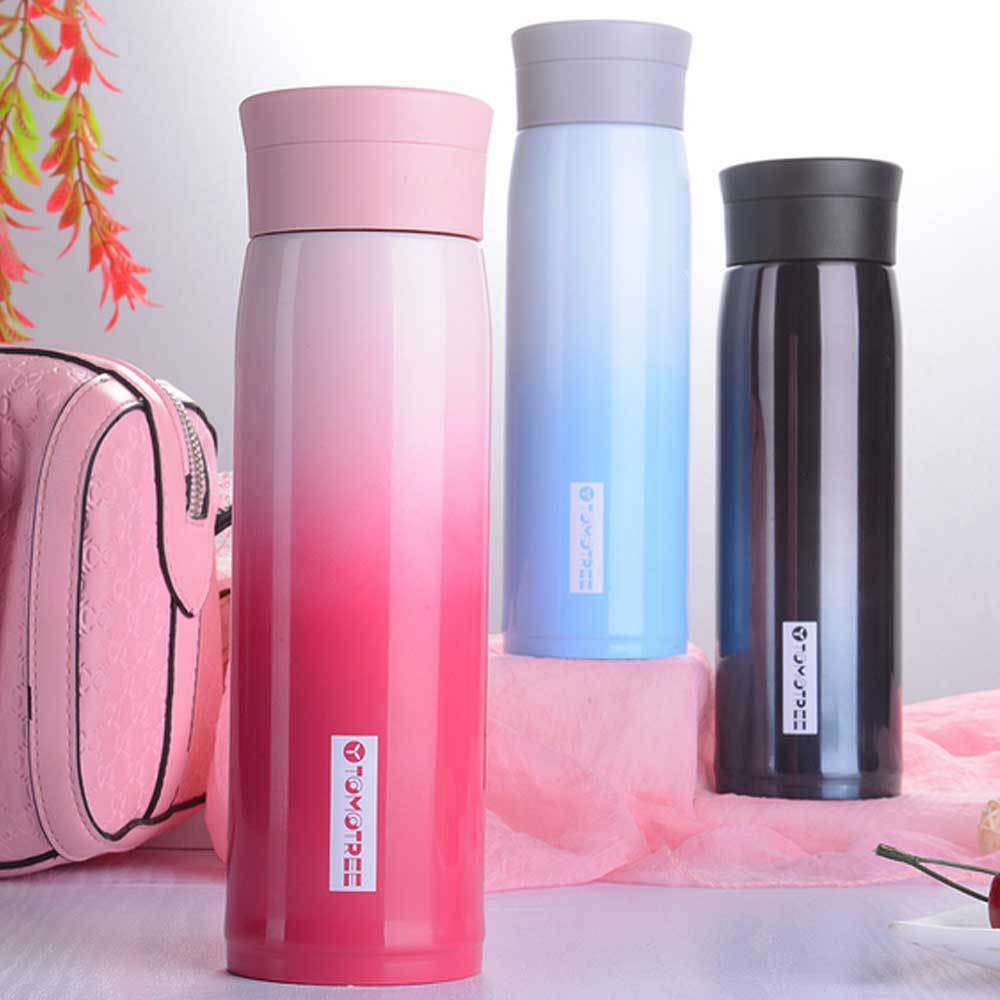600ml Mug Water Thermos 304 Stainless Steel Car Thermal Cup Bottle Vacuum Cup Thermal School Home Tea Coffee Gradient Color(China)