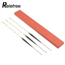 Relefree 3Pcs/Box Coarse Fishing Floats Floating Wood Pole Float Exquisite Bobbers Balsa  Buoy Fishing Tackle Fishing Accessory