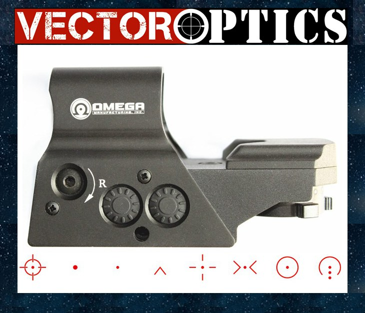 Vector Optics Omega Tactical Reflex 8 Reticle Red Dot Sight High End Quality Scope fit for .223 AR15 7.62 AK 47 12ga vector optics mini 1x20 tactical 3 moa red dot scope holographic sight with quick release mount fit for ak 47 7 62 ar 15 5 56