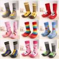 2017 Fashion Newborn Baby Boy Girl Socks Anti Slip Newborn Animal Cartoon Shoes Slippers Boots Soft Rubber Soled Outdoor Shoes