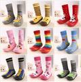 2017 Moda Bebé Recién Nacido Niña Niño Recién Nacido de Dibujos Animados Calcetines Antideslizantes Zapatos Zapatillas Botas Zapatos Al Aire Libre Con Suela de Goma Suave