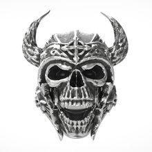 6d1245acc515 Anillo de calavera de acero inoxidable los caballeros templarios casco  Guerrero anillo para hombres