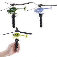 15.5*3*6cm Aviation model Handle Pull The Plane Outdoor Toys For Children Baby Play Helicopter(China)