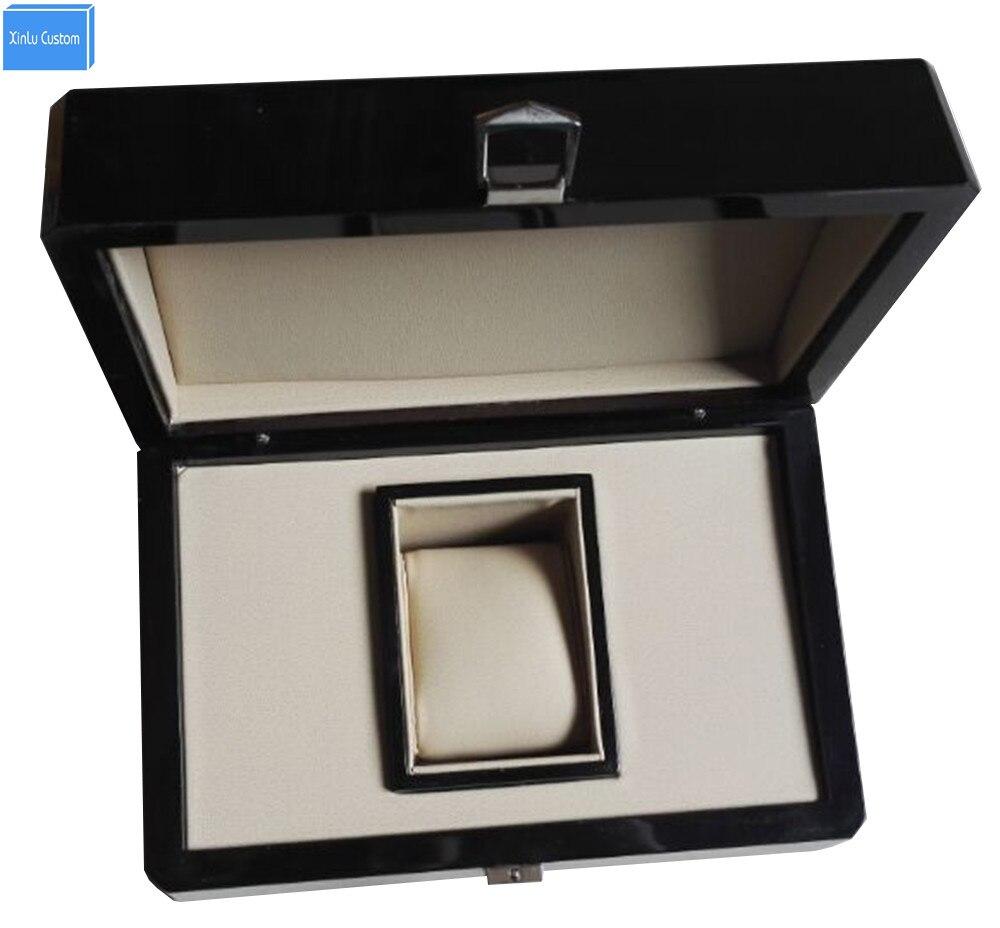 Boîte de montre de marque originale de cadeau en bois fait sur commande de luxe dans les montres-bracelets d'emballage, vente en gros et Reatail et adaptent le prix usine d'heure de boîtes
