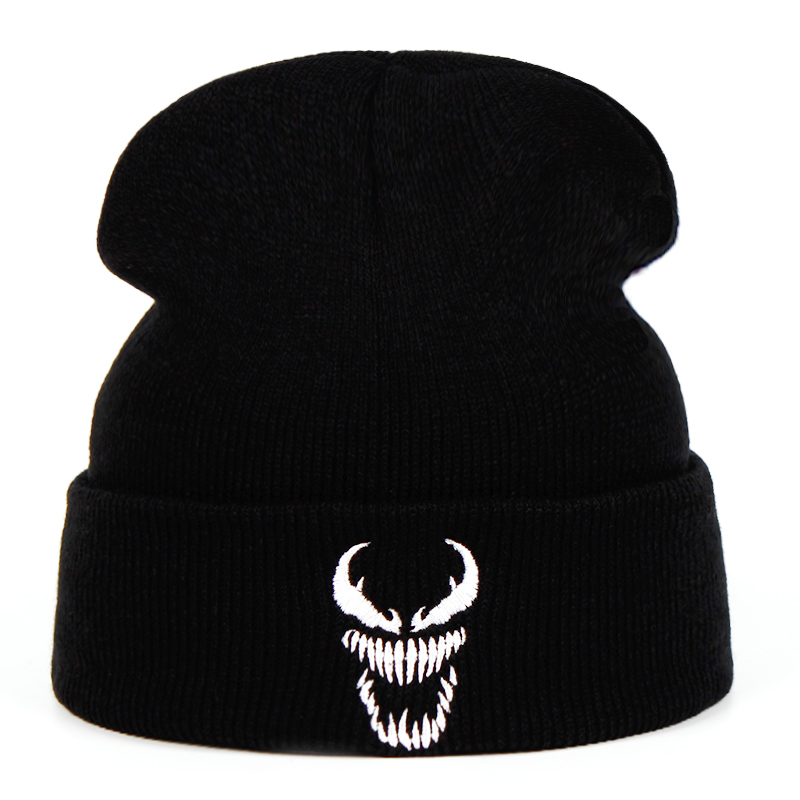 Eminem Venom Knit Hat Winter Hats Casual Beanie For Men Women Fashion Knitted Winter Hat Hip-hop Skullies Hat Venom Keep Warm