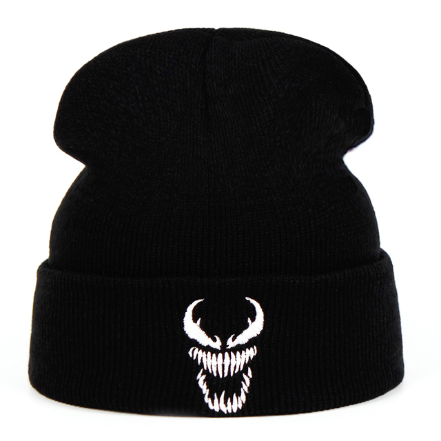 992e58be2ac Eminem Venom Knit Hat Winter Hats Casual Beanie For Men Women Fashion Knitted  Winter Hat Hip-hop Skullies Hat venom Keep warm