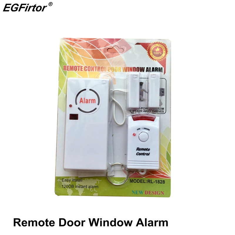 Home Alarm Wireless Remote Control Window Sensor 120dB Security Door Alarm Sensor 9V Battery Magnetic Switch Anti theft Alarm(China)