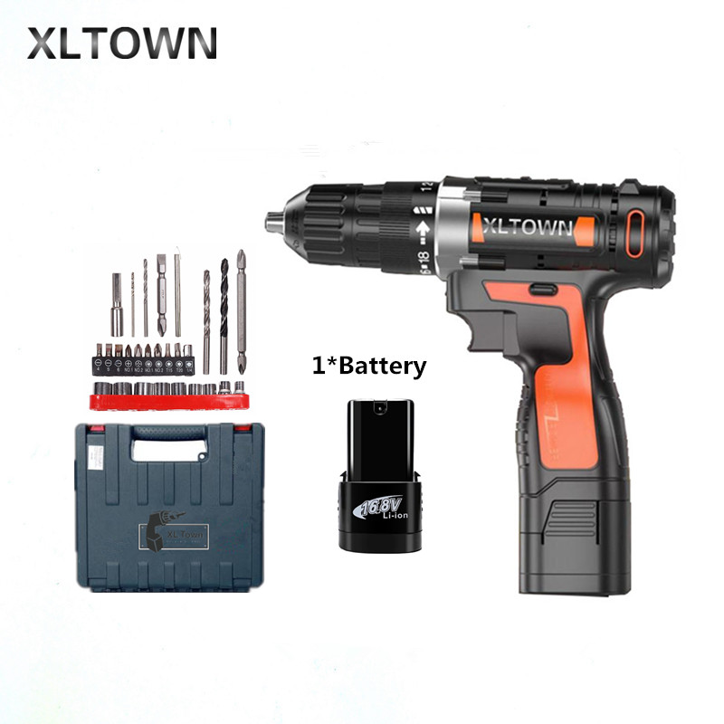 все цены на Xltown 16.8v Cordless Mini Electric Drill Rechargeable Multi-energy lithium battery electric screwdriver power tools Gift drill онлайн