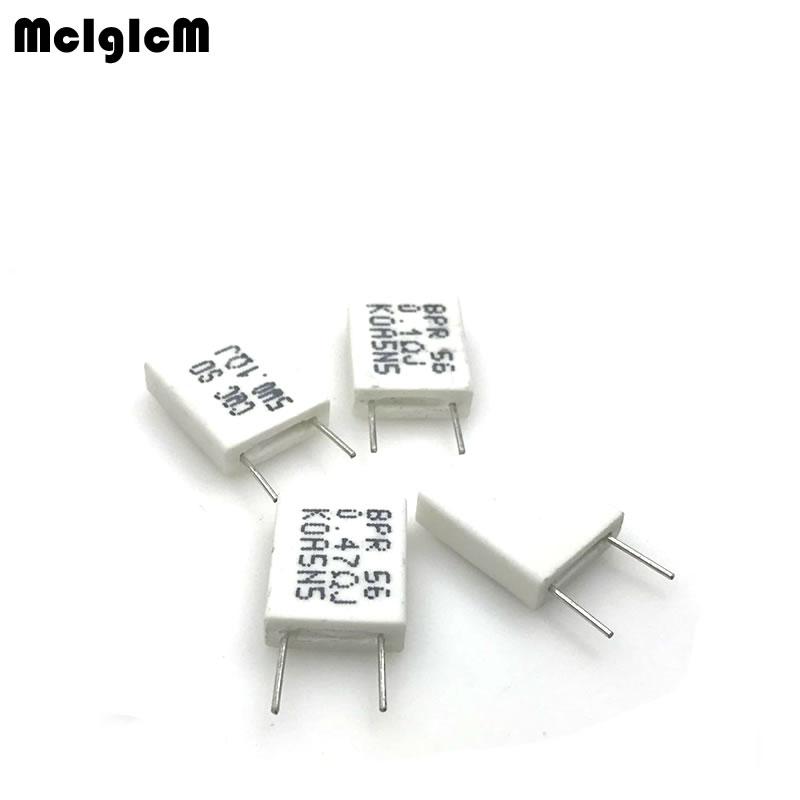 MCIGICM 100pcs BPR56 5W 0.1 0.15 0.22 0.25 0.33 0.5 ohm Non-inductive Ceramic Cement Resistor 0.1R 0.15R 0.22R 0.25R 0.33R 0.5RMCIGICM 100pcs BPR56 5W 0.1 0.15 0.22 0.25 0.33 0.5 ohm Non-inductive Ceramic Cement Resistor 0.1R 0.15R 0.22R 0.25R 0.33R 0.5R