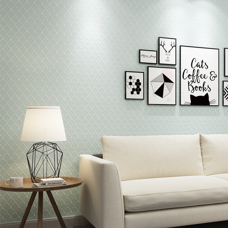 beibehang new Modern minimalist plain art elegant non-woven wallpaper Nordic wind bedroom living room TV background wall paper beibehang new children room wallpaper cartoon non woven striped wallpaper basketball football boy bedroom background wall paper