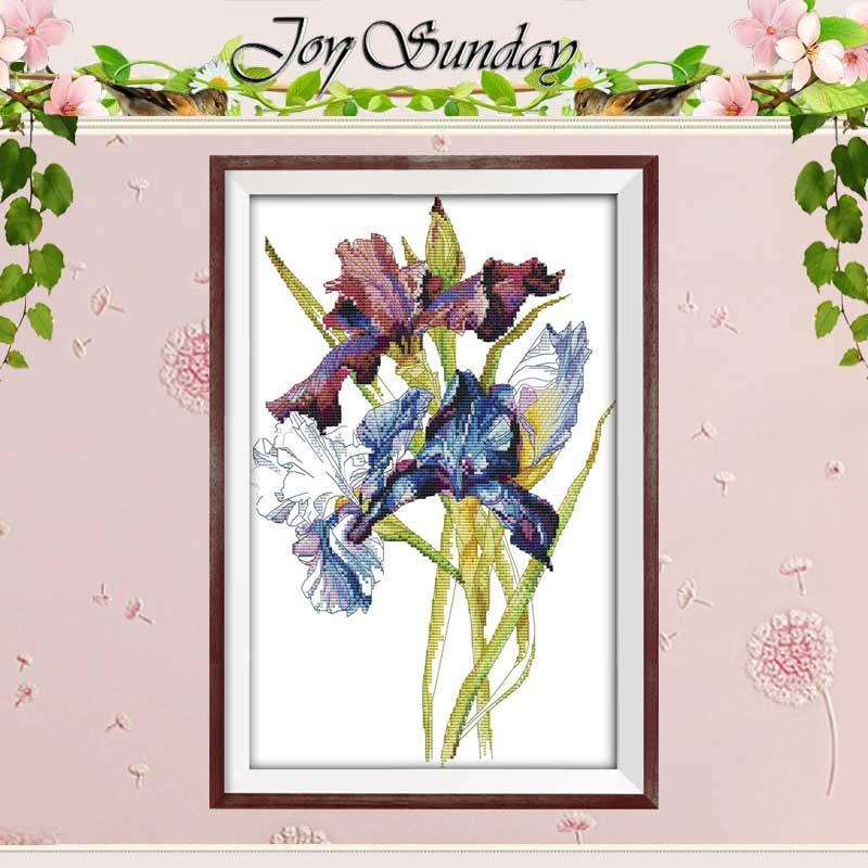 Iris flower counted Cross Stitch 11CT 14CT Cross Stitch Set Wholesale DIY Chinese Cross-stitch Kit Embroidery Needlework