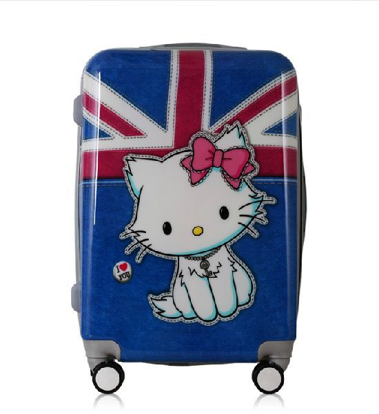 Women Luggage Travel Bags & Girls Cartoon Suitcase, Hello Kitty Rolling Luggage, ABS+PC Universal Wheels Trolley - Lzahua Store store