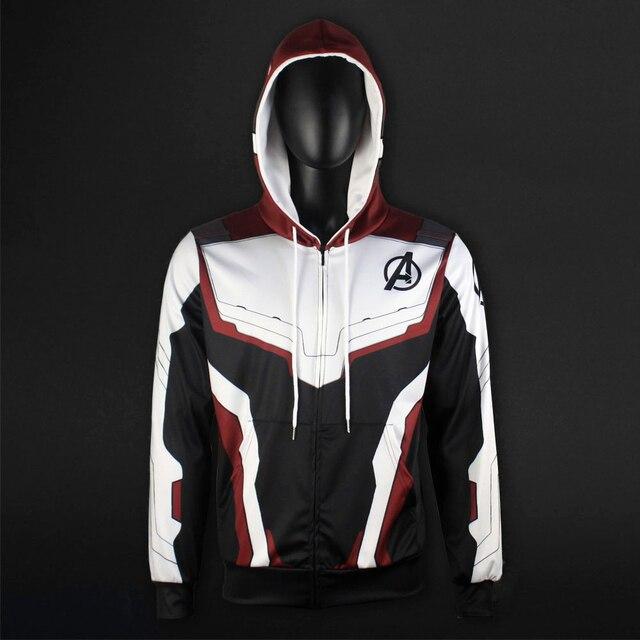 Men Women Avengers Endgame Realm Cosplay Hoodies 3D Pullover Sweatshirt Quantum Realm Superhero Zipper Jacket Costumes   1