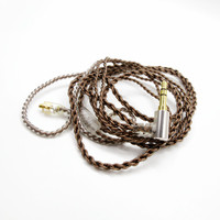Hot Sales 1 2m Single Crystal Copper Earphone Cables Headphone Wire HIFI Headset Line For UE900