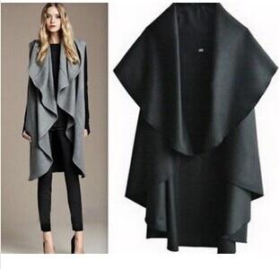 Free Shipping / Hot Sale Women's Fashion Wool Coat, Ladies' Noble Elegant Cape / Shawl. Ladies Poncho Wrap Scarves Coat