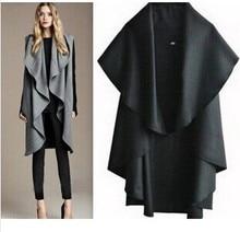 Бесплатная доставка/Лидер продаж Женская Мода Шерстяное пальто, женская благородный элегантный Мыс/шаль. Женские пончо шарфы обруча пальто