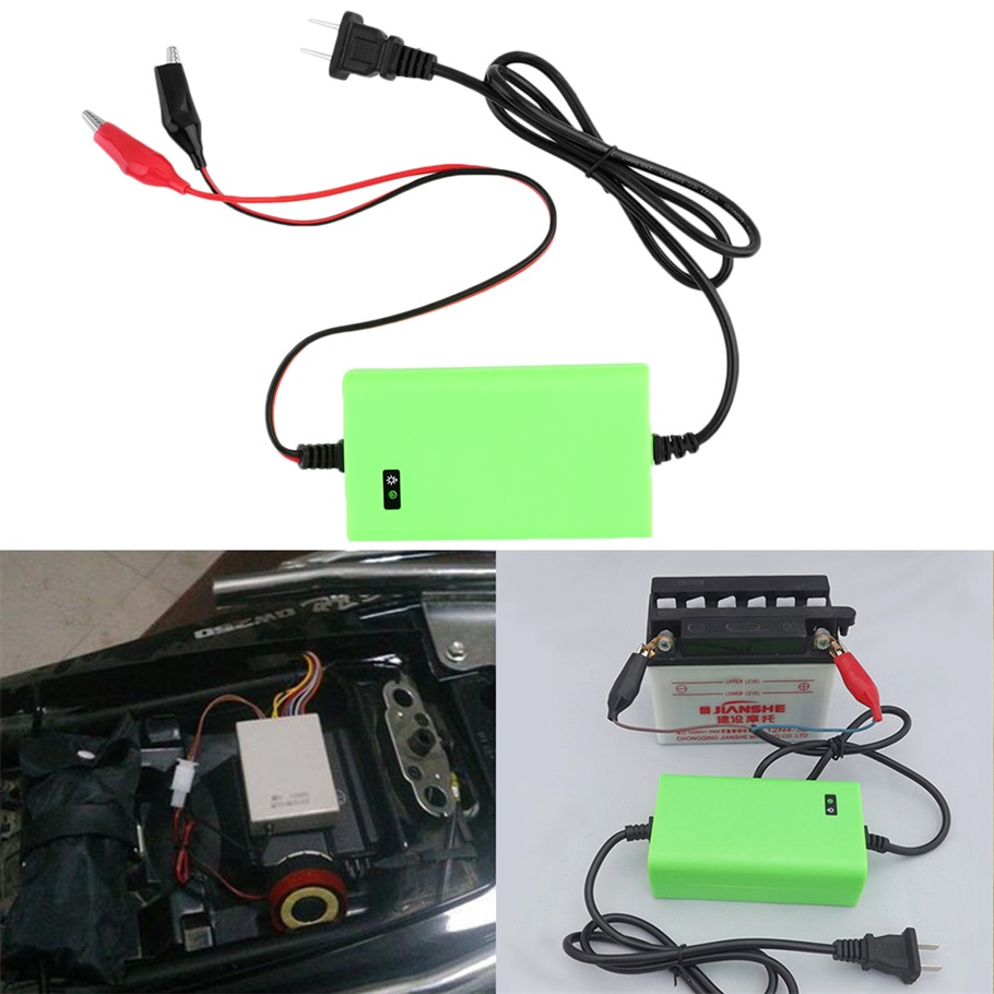 12V 2A Intelligent Auto Car Battery Charger Voltage Rechargeable Battery Power Charger 220V Automatic Power Supply Green Hot