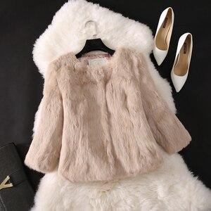 Image 4 - 2020 חדש מכירה לוהטת גברת אמיתי ארנב פרווה מעיל אמיתי אמיתי ארנב פרווה מעיל מזדמן מלא פלט 100% טבעי ארנב פרווה חזייה