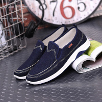 2018 new casual vulcanized men shoes fashion wide flat polyester casual shoes men easy wear shoes